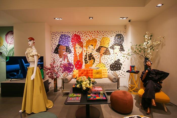 Alcantara Concet Store presents its interior collection. Wanderlust.
